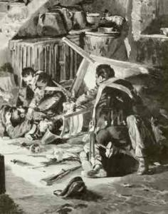Illustrazionedi Gennaro Amato della cattura di Delpero nel libro di De Amicis, Alle porte d'Italia