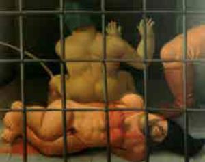 Dipinto del ciclo sul carcere di Abu Ghraib di Fernando Botero (2004-2005)