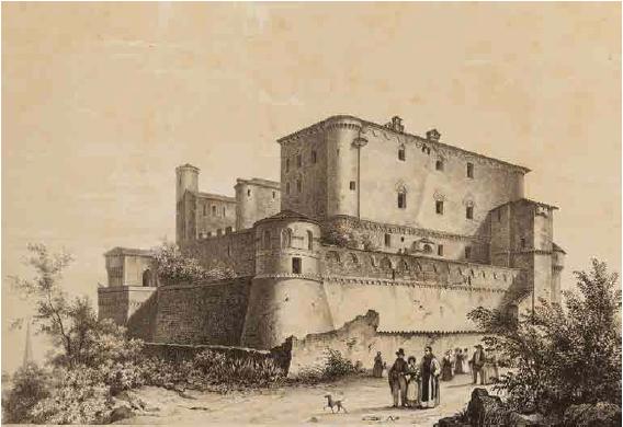 La Castiglia raffigurata nel celebre album delle castella feudali della Monarchia di Savoia di E. Gonin (Biblioteca Reale Torino)