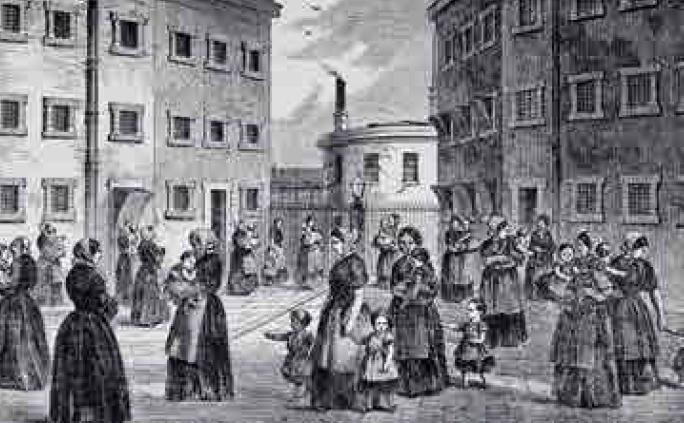 Detenute coi loro figli al carcere di Tothill Fields (1862)