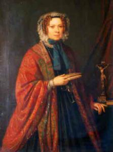 Giulia Colbert ritratta da Pietro Ayres (1830 ca.)