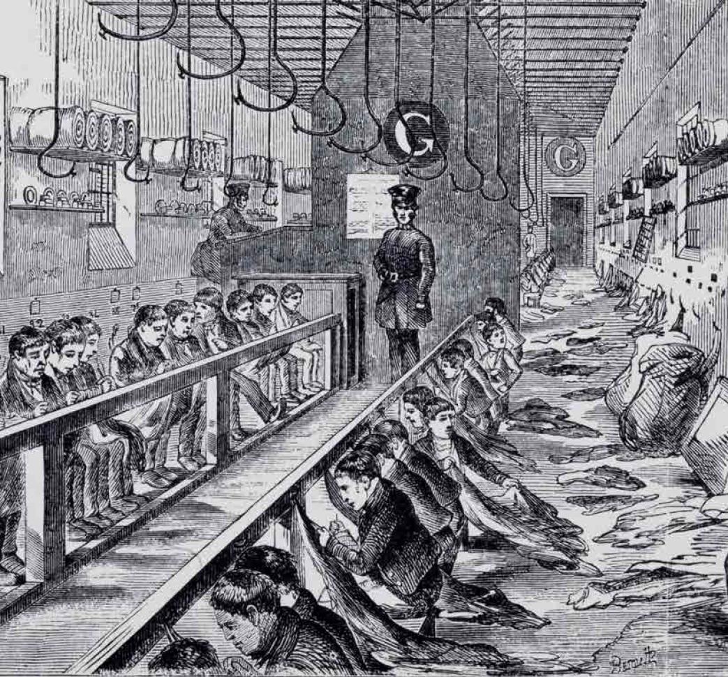 Laboratorio per il lavoro in isolamento del carcere di Millbank (1862) BIBLIOTECA FONDAZIONE EINAUDI TORINO