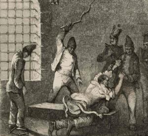 Fustigazione nei bagni penali francesi (1845)