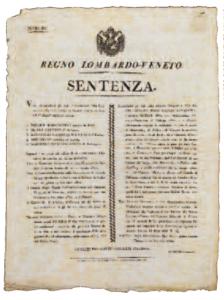 Sentenza di condanna di Pellico e Maroncelli del Tribunale di Venezia (21 febbraio 1822)