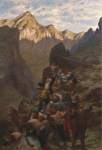 Dipinto di Silvio Allason, Episodio della persecuzione dei Valdesi (1875 ca.), Galleria d'Arte Moderna di Torino